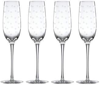 Kate Spade Larabee Dot 7.5 oz. Champagne Flutes