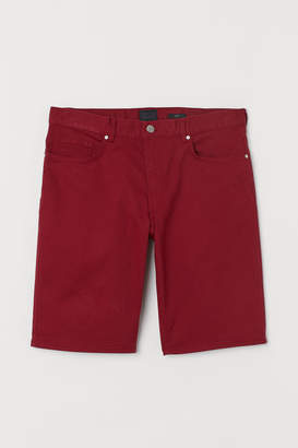 H&M Twill Shorts - Red