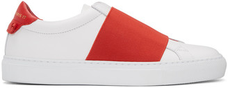 Givenchy White & Red Urban Knots Sneakers $595 thestylecure.com