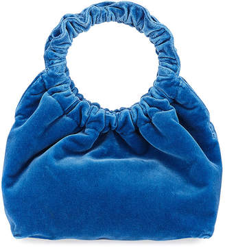 Double Circle Small Velvet Handbag