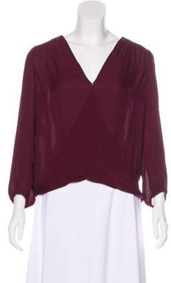 Alice + Olivia Silk Long Sleeve Top