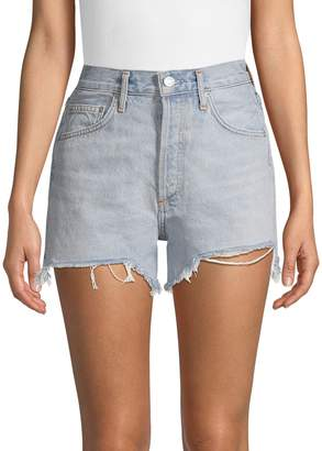 A Gold E Agolde Classic Denim Shorts