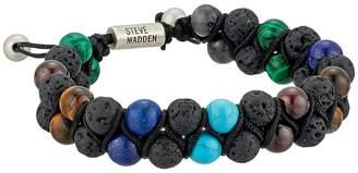 Steve Madden Stainless Steel Garnet Beaded Bracelet Bracelet