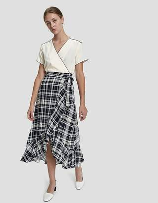 Farrow Shana Plaid Wrap Skirt