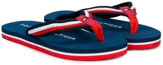 Tommy Hilfiger Junior striped flip flops