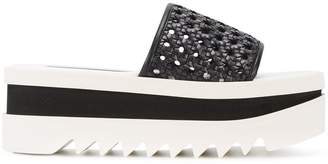 Stella McCartney woven platform slides