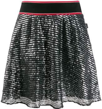 Love Moschino sequinned mini skirt