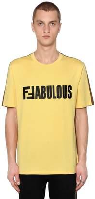 Fendi Two Tone Ffabulous Jersey T-Shirt