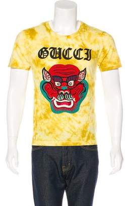 Gucci 2017 Embroidered Tie-Dye T-Shirt w/ Tags