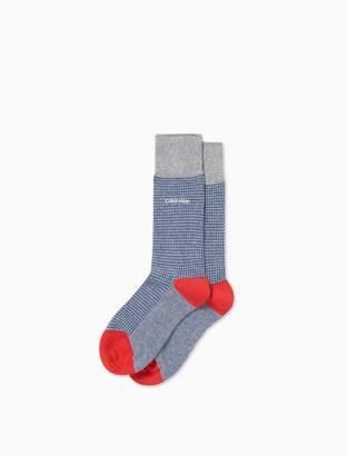 Calvin Klein colorblock cotton blend rib knit socks