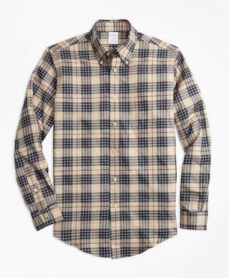 Brooks Brothers Regent Fit Multi-Plaid Flannel Sport Shirt