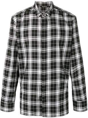 Neil Barrett checked print shirt