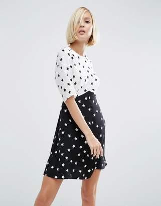 ASOS Mix and Match Star Print Dress $46 thestylecure.com