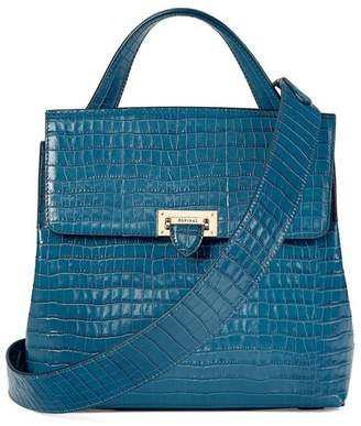 d11c8040fcd7 at Orchard Mile · Aspinal of London Soho Backpack In Deep Shine Topaz Small  Croc