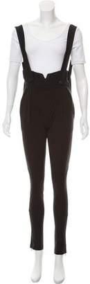 Balenciaga High-Waist Suspender Pants