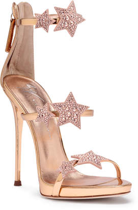 Giuseppe Zanotti Harmony Star 120 rose gold leather sandals