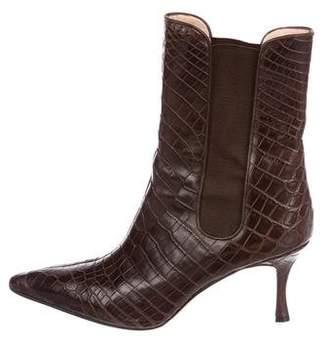 Manolo Blahnik Toialo Alligator Boots