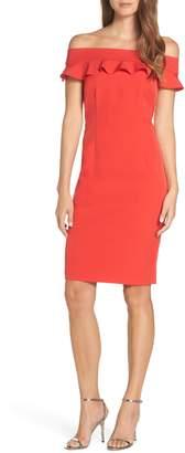 Eliza J Ruffle Off the Shoulder Dress