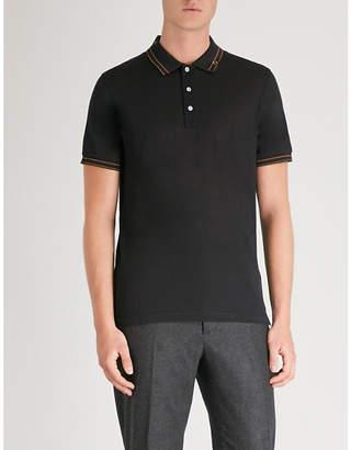 Salvatore Ferragamo Contrast-trim cotton-piqué polo shirt
