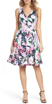 Women's Betsey Johnson Floral Fit & Flare Dress $138 thestylecure.com