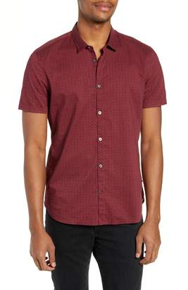 John Varvatos Regular Fit Foulard Print Sport Shirt