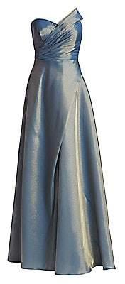 Rene Ruiz Collection Women's Strapless Draped-Bodice Gown