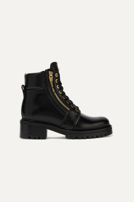 Balmain Army Leather Ankle Boots - Black