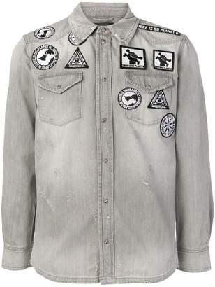 John Richmond patchwork denim shirt