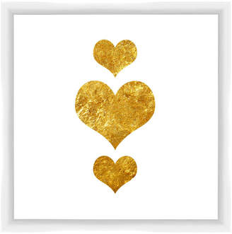 PTM Images Three Gold Hearts