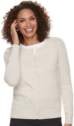 Croft & Barrow Petite Essential Cardigan Sweater