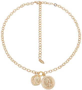 Ettika Double Coin Necklace