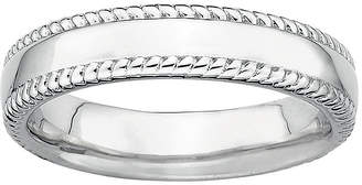 JCPenney FINE JEWELRY Personally Stackable Sterling Silver Stackable 1.5mm Milgrain-Edge Band Ring