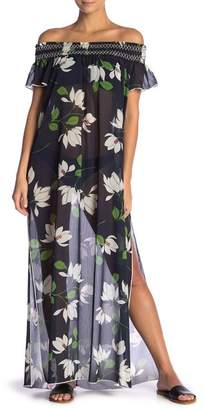 Robin Piccone Elisa Floral Cover-Up Maxi Dress