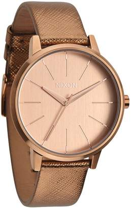Nixon Women's Kensington A1081923 Leather Quartz Watch