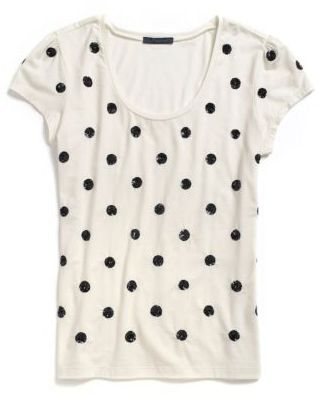 Tommy Hilfiger Women's Sequin Dot Tee