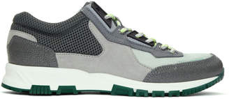 Lanvin Grey and Green Running Sneakers