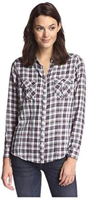 James & Erin Women's Classic Plaid Shirt