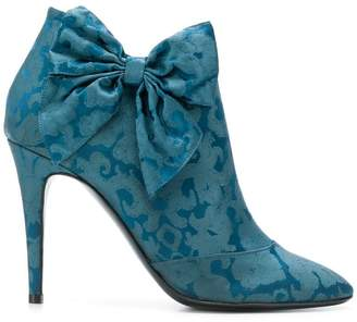 LaBelle Les Chaussons De brocade bow booties