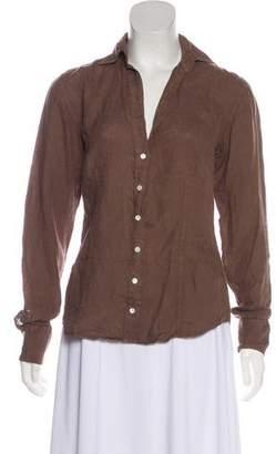 Hartford Linen Long-Sleeve Blouse