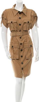 Jean Paul Gaultier Short Sleeve Belted Shirtdress $125 thestylecure.com