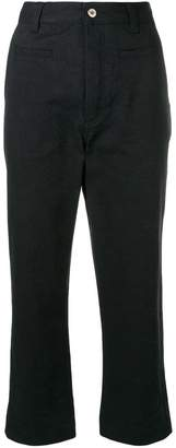 Loewe cropped high-waisted trousers