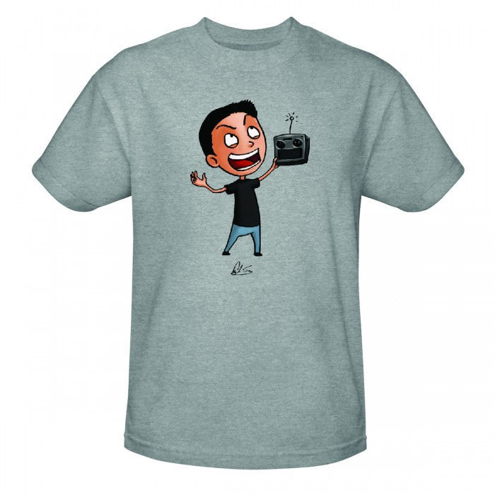 Discovery MythBusters Grant's Design Grant T-shirt - Heather Grey