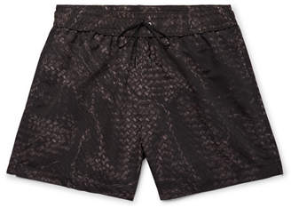 Bottega Veneta Mid-Length Printed Swim Shorts - Black