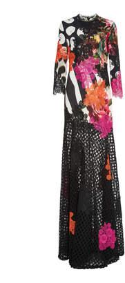 Naeem Khan 3/4 Sleeve Gown