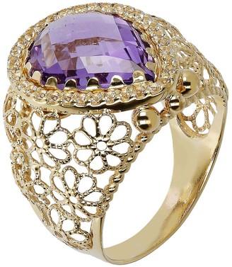 Arte D'oro Arte d' Oro Faceted Pear Gemstone Ring, 18K Gold