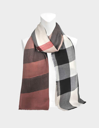 Burberry Ombre Lightweight Mega Check scarf