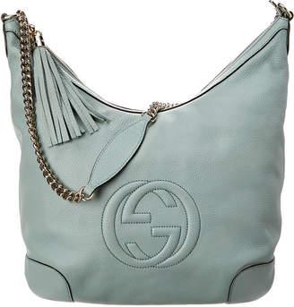 Gucci Light Blue Leather Chain Soho Bag