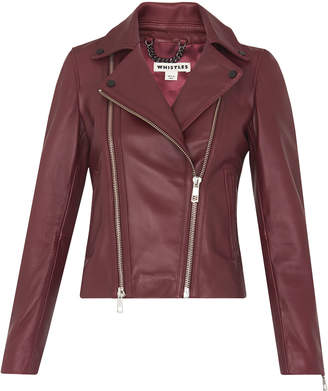 Whistles Lexi Leather Biker Jacket