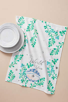 Anthropologie Oyster Dish Towel