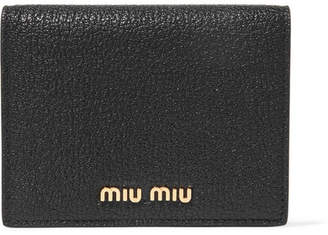 Miu Miu Textured-leather Wallet - Black
